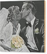 White Wedding Wood Print