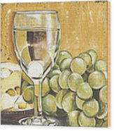 White Wine And Cheese Wood Print by Debbie DeWitt