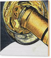 White Wine Art - Lap Of Luxury - By Sharon Cummings Wood Print
