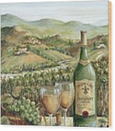 White Wine Lovers Wood Print by Marilyn Dunlap