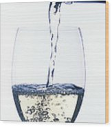 White Wine Pouring Wood Print by Garry Gay