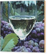 White Wine Reflections Wood Print