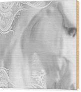 White Winter Horse 2 Wood Print