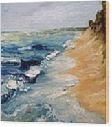 Whitecaps On Lake Michigan 3.0 Wood Print