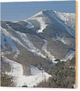 Whiteface Ski Mountain In Upstate New York Near Lake Placid Wood Print by Brendan Reals