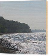 Whitefish Bay Shoreline Wood Print