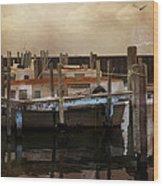 Whitefish Point Harbor Michigan Wood Print