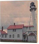 Whitefish Point Light Wood Print