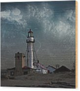Whitefish Point Lighthouse Lake Superior Wood Print