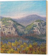 Whitehorse And Cathedral Ledges From The Red Jacket Inn Wood Print