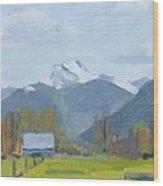 Whitehorse Mountain East Arlington Wood Print