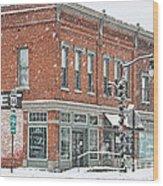 Whitehouse Ohio In Snow 7032 Wood Print
