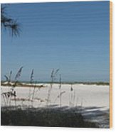 Whitesand Beach Wood Print