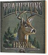 Whitetail Deer Traditions Wood Print