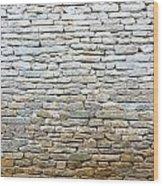Whitewash Old Stone Wall Wood Print