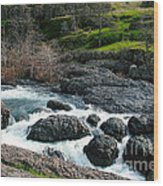 Whitewater At Bear Hole Wood Print