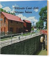 Whitewater Canal Locks Wood Print