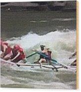 Whitewater Rafting Wood Print