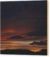 Whitewater Sunset Wood Print