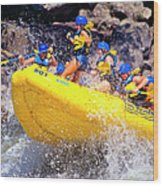 Whitewater Thrill Ride Wood Print by Thomas R Fletcher