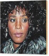 Whitney Houston 1989 Wood Print