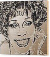 Whitney Houston In 1992 Wood Print