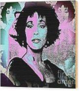Whitney Houston Sing For Me Again Wood Print