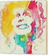 Whitney Houston Watercolor Canvas Wood Print
