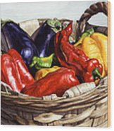 Who Wants To Blister The Peppers Wood Print