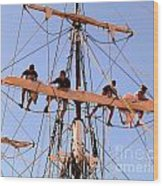 Who Was That Mast Man Wood Print