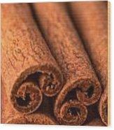 Whole Cinnamon Sticks  Wood Print