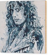 Whole Lotta Love Jimmy Page Wood Print by Paul Lovering