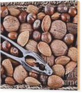 Whole Nuts In A Basket Wood Print