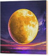Whole Of The Moon Wood Print by Robin Moline