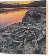 Whonnock Lake Sand Castle Wood Print