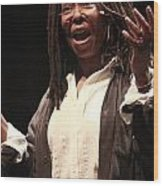 Whoopi Goldberg Wood Print