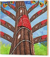 Why Pick On Me Guitar Abstract Tree Wood Print