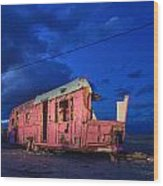Why Pink Airstream Travel Trailer Wood Print