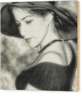 Wiccan Lady Wood Print