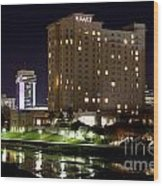 Wichita Hyatt Along The Arkansas River Wood Print