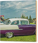 Wicked 1955 Chevy Profile Wood Print