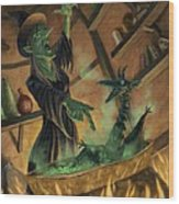 Wicked Witch Casting Spell Wood Print