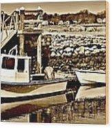 Wickford Marina Wood Print