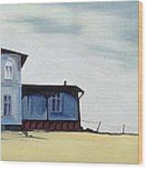 Wide Blue Wood Print
