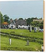 Wide Panorama Of Stone Circle Avebury Circle  Wiltshire Uk  Wood Print