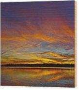 Widescreen Sunset Wood Print