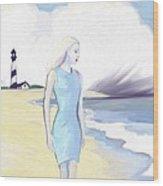 Widow By The Sea Wood Print