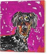 Wiener Dog Wood Print