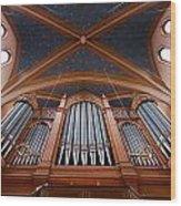 Wiesbaden Marktkirche Organ Wood Print