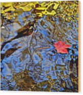 Wiggling Water Wood Print